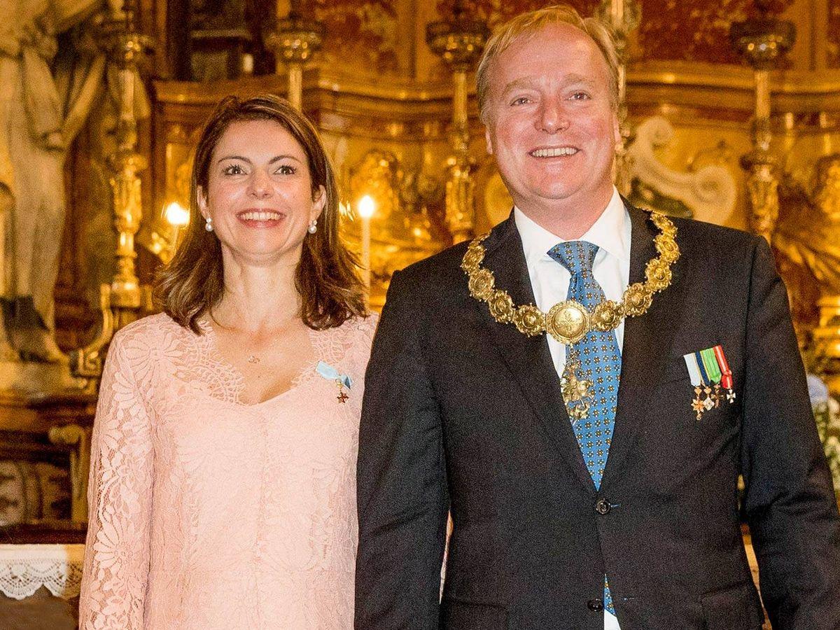 Foto: Carlos de Borbón Parma y su esposa. (CP)
