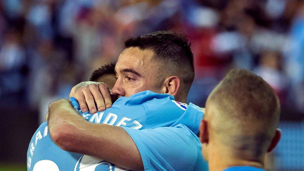Foto: Iago Aspas marcó dos de los tres goles del Celta en la victoria ante el Villarreal. (EFE)