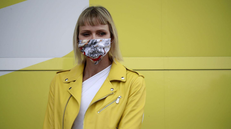 La princesa hizo un guiño con su atuendo al color amarillo típico del Tour de Francia. (EFE)