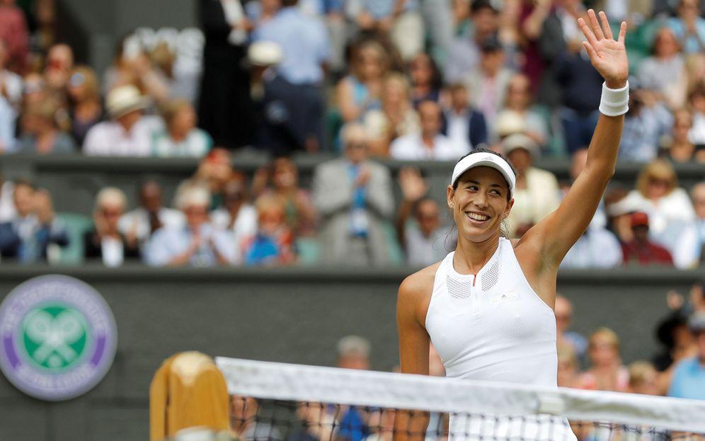 Foto: Garbiñe Muguruza está sacando su mejor tenis en esta edición de Wimbledon. (Reuters)