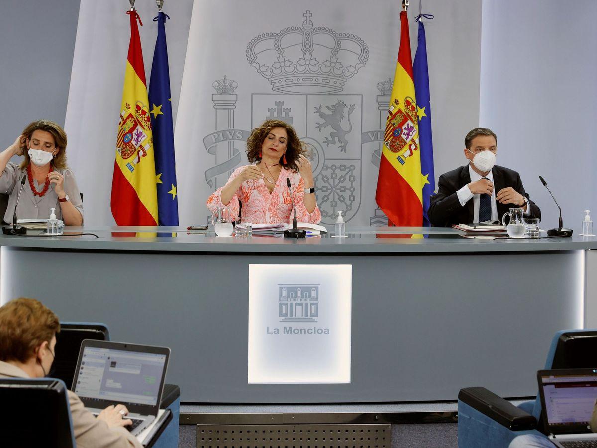 Foto: Rueda de prensa posterior a la reunión del Consejo de Ministros.
