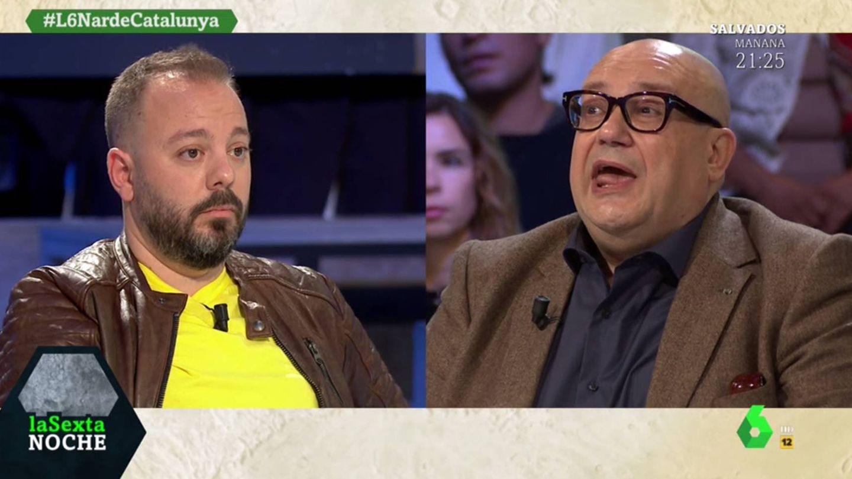 Maestre y Miquel Giménez discuten sobre la violencia en Cataluña. ('La Sexta noche').