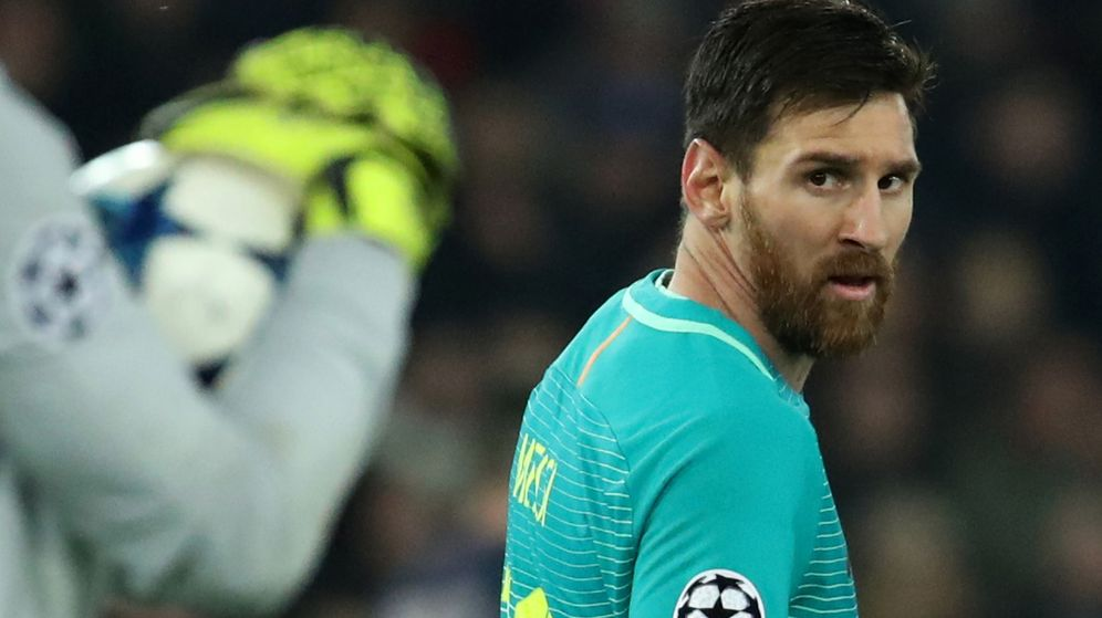 Foto: Messi, en el partido con el PSG (Reuters)