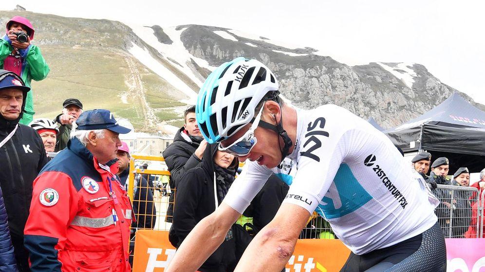 Foto: Chris Froome durante el presente Giro de Italia. (EFE)