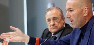 Post de Florentino Pérez dice adiós a Zidane con gesto serio: