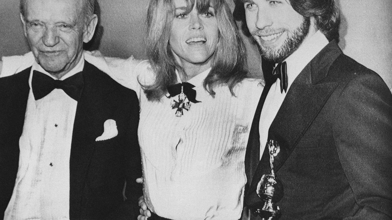 Travolta junto a Jane Fonda y Fred Astaire en 1979. (Gtres)