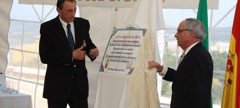 Foto: Ángel de la Riva, socio de honor del Club de Golf La Cañada.
