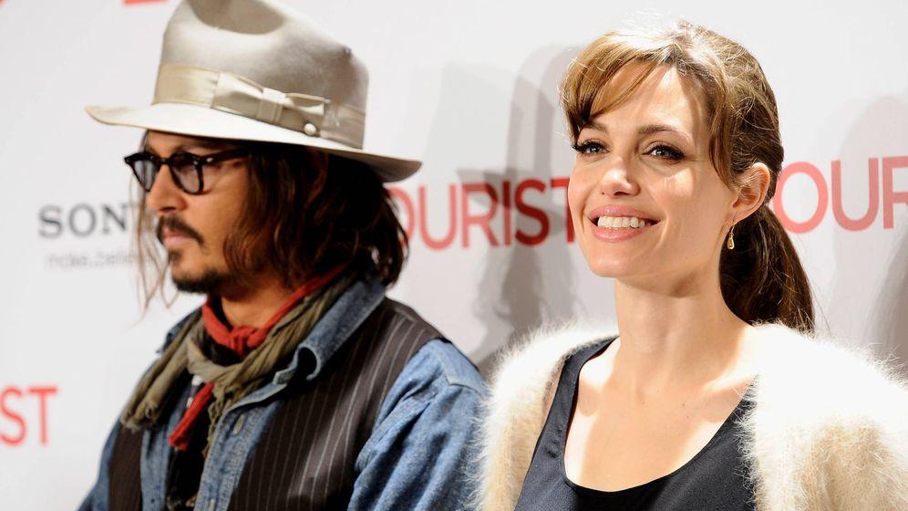 Foto:  Johnny Depp y Angelina Jolie, en el estreno en Madrid de 'The tourist'. (Getty)