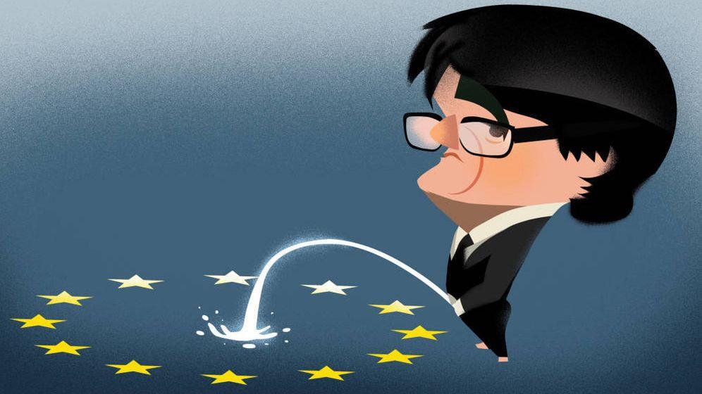Foto: Carles Puigdemont. (Ilustración: Raúl Arias).