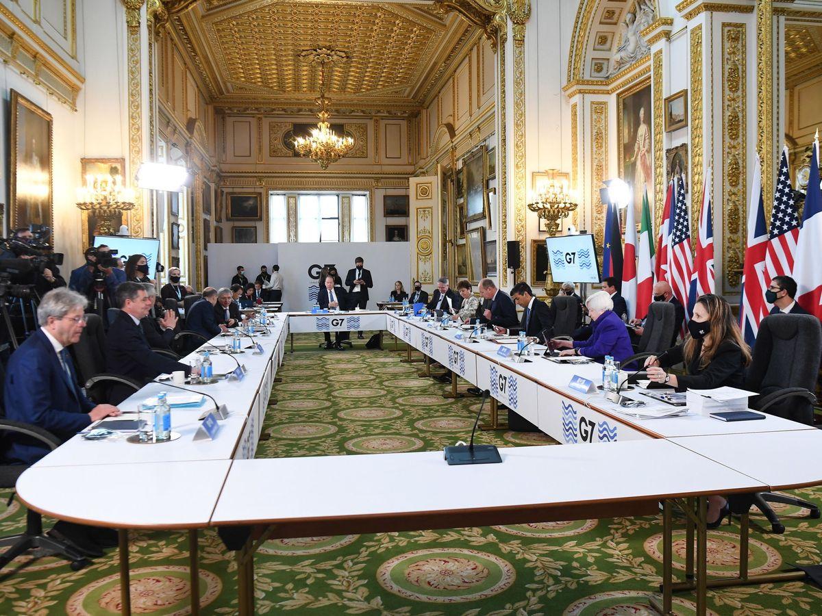 Foto: Cumbre de ministros de Finanzas del G7