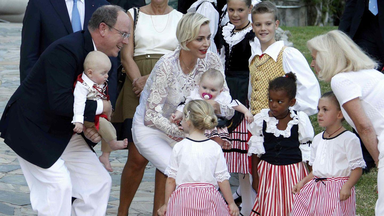 Los pequeños durante el evento (Reuters)