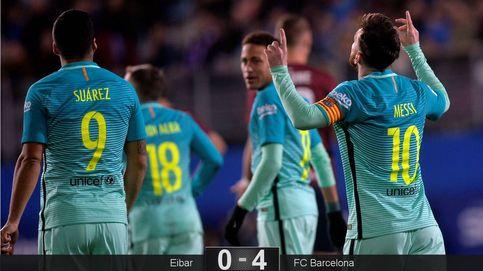 Messi reparte caramelos en un partido complicado en el que se lesionó Busquets
