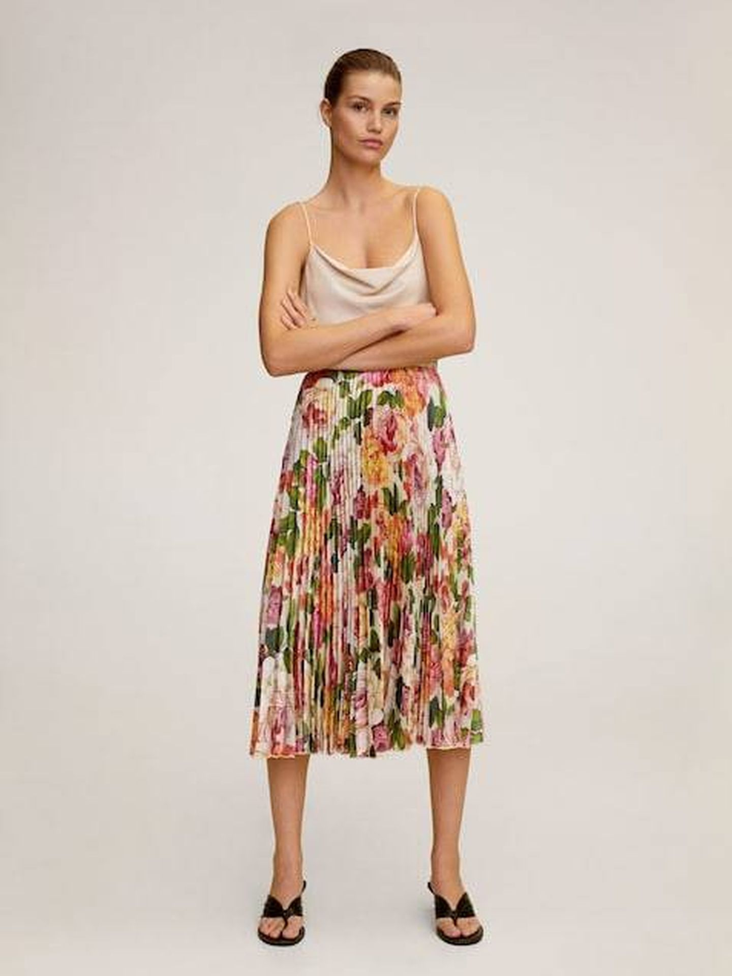 La falda de Mango (Cortesía)