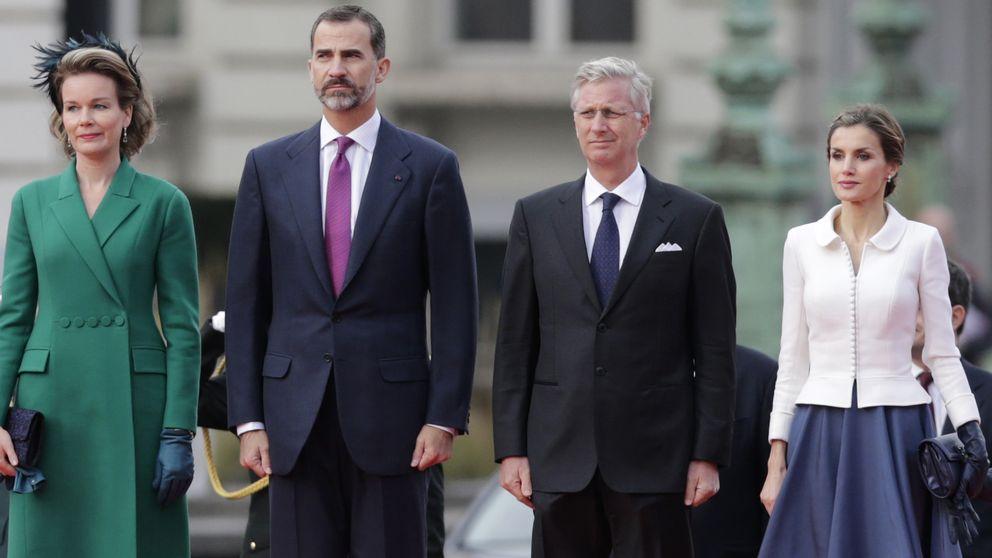 Los Reyes de Bélgica dan la bienvenida a Felipe y Letizia