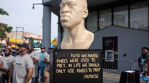 Neonazis vandalizan la estatua en homenaje a George Floyd tras su inauguración