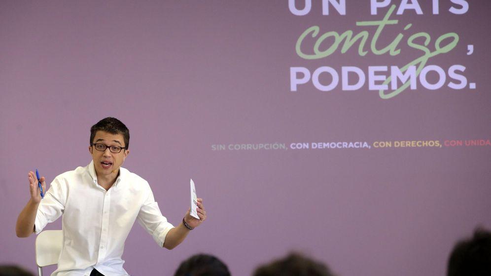 Foto: El director de campaña de Podemos, Íñigo Errejón, durante la presentación de los elementos centrales de la campaña de su formación para las elecciones generales del 20-D. (EFE)