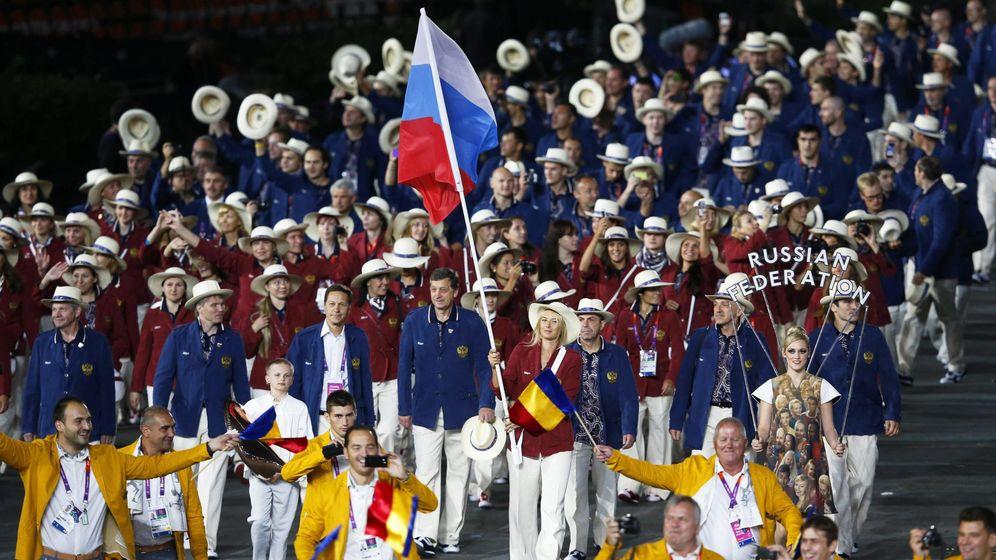 Foto: Rusia, en la ceremonia de apertura de los Juegos de Londres (Reuters)
