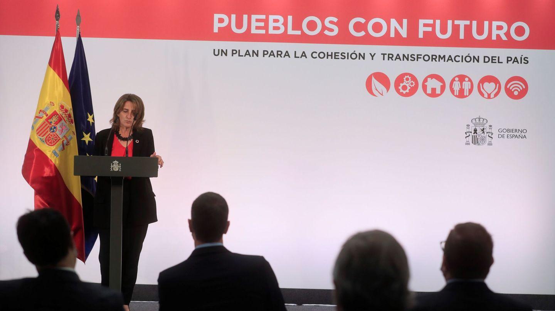 Teresa Ribera, en la presentación del plan 'Pueblos con futuro'. (EFE)