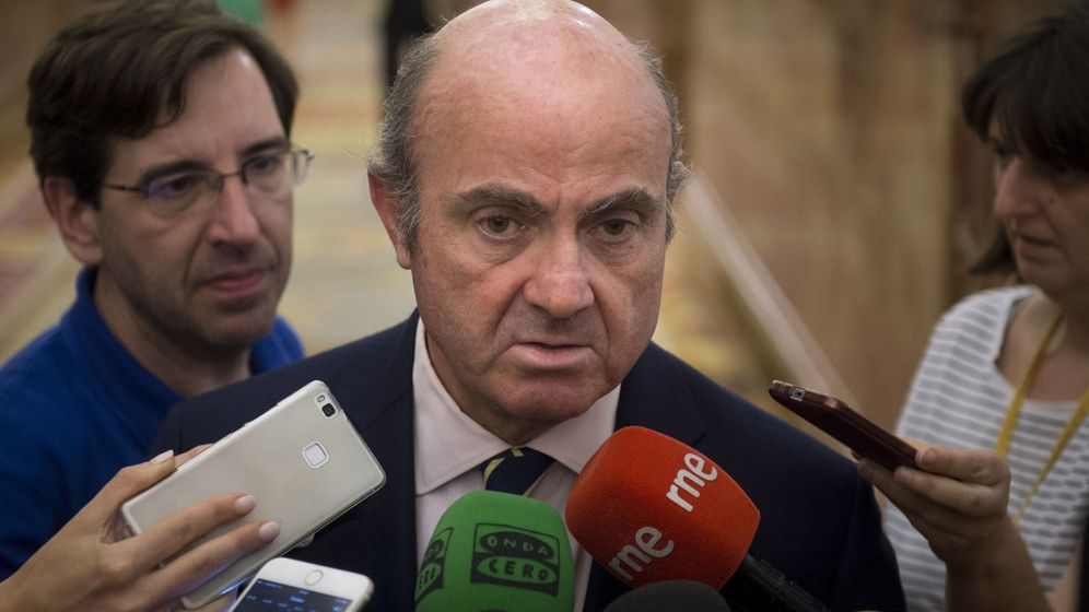 Foto: El ministro de Economía, Luis de Guindos. Foto: Efe.