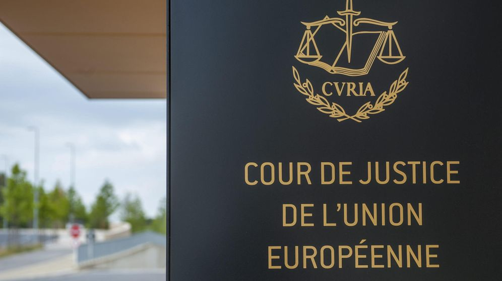 Foto:  Fotografía de archivo del pasado 25 de junio de 2014 que muestra la entrada del Tribunal del Justicia de la Unión Europea. (EFE)