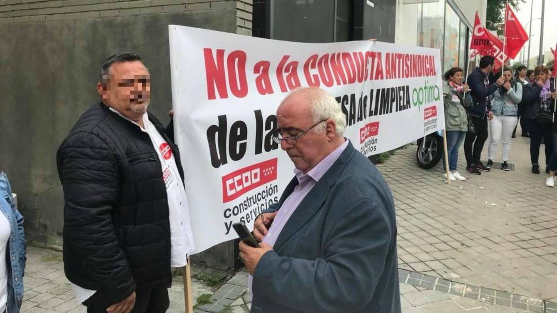 Foto:  Miguel Rosa (en el centro), con otro de los dirigentes de la gestora de la federación.
