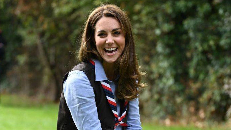Kate Middleton, con el cabello castaño recientemente. (Getty)