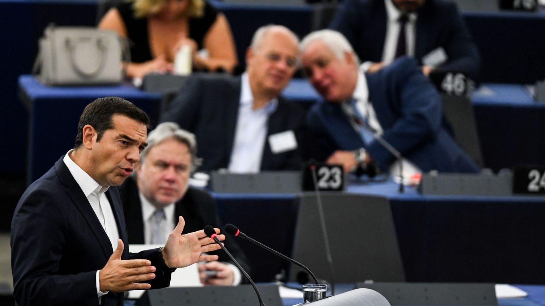 Tsipras, durante un discurso sobre el futuro de la UE. (EFE)