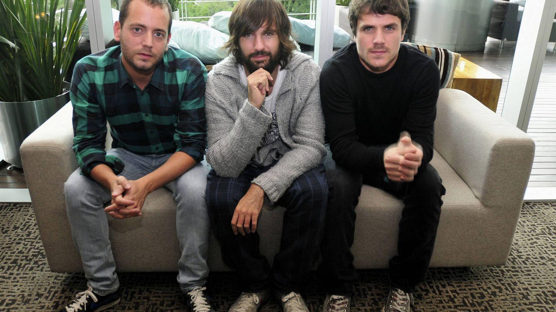 Chema Ruiz, David Otero y Dani Martín, El Canto del Loco. (EFE)