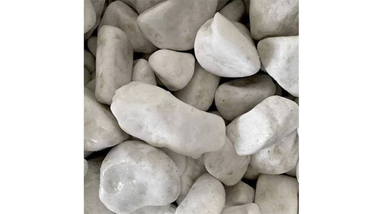 Saco de piedra calcárea rodada blanca