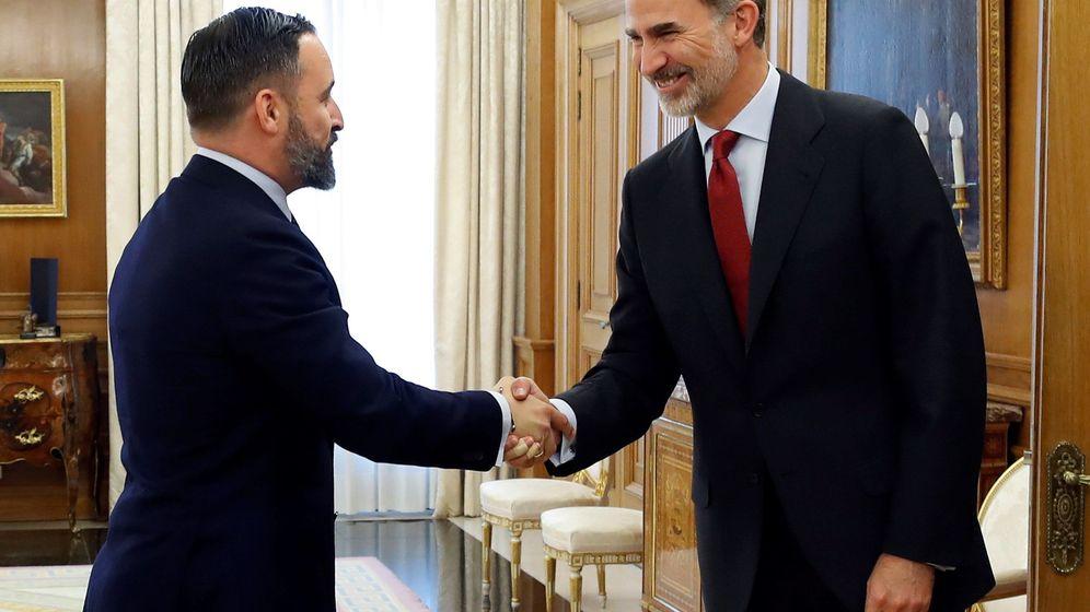 Foto: El Rey recibe en la ronda de consultas al diputado y presidente de Vox Santiago Abascal. (EFE)