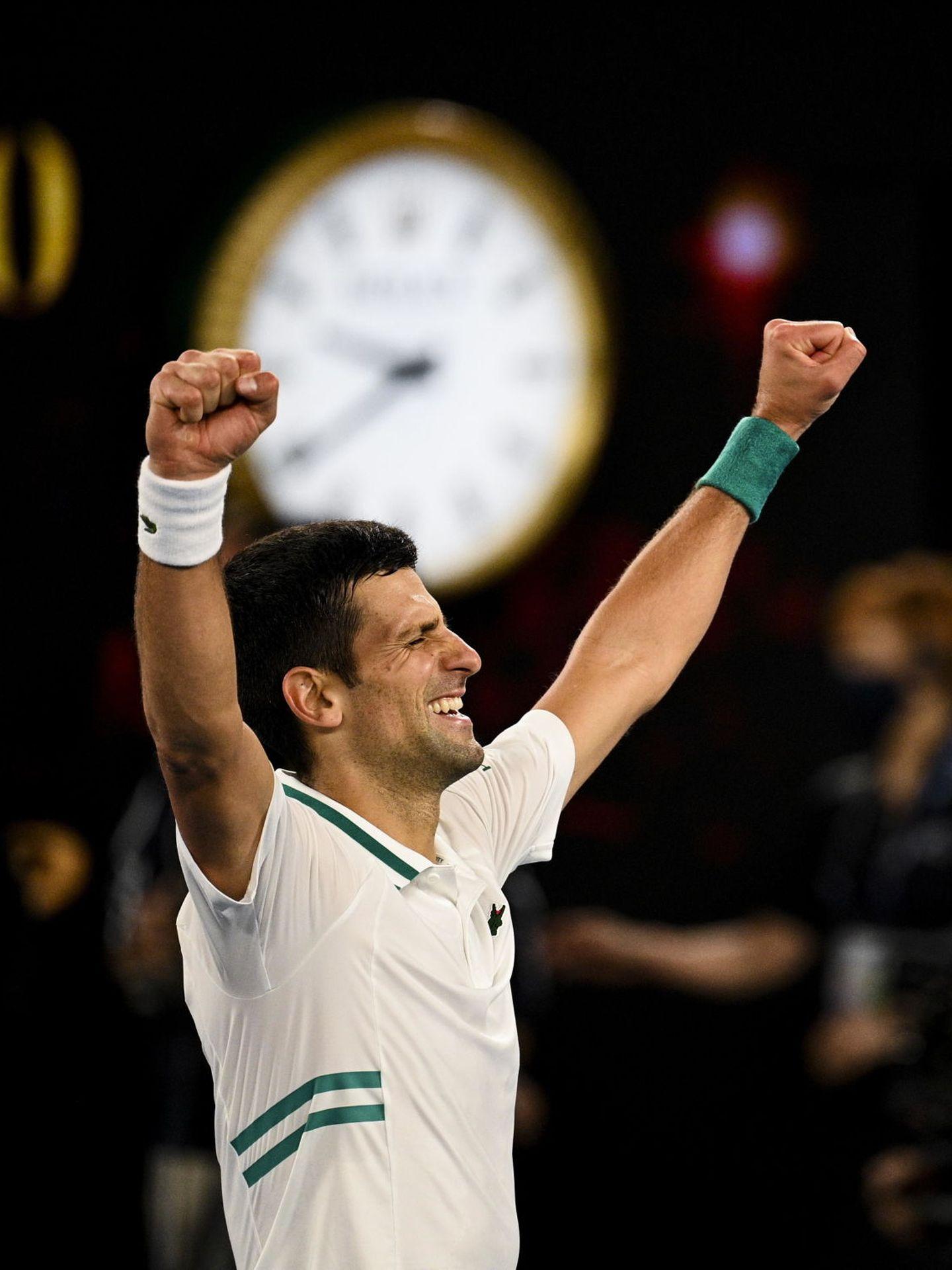 Djokovic celebra su título. (Efe)