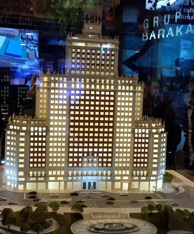 Foto: Maqueta del Edificio España en el SIMA. (EFE)