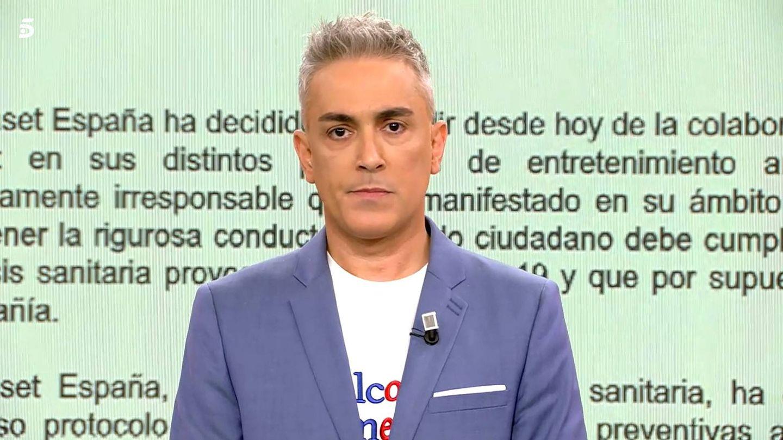 Kiko Hernández, presentador este jueves de 'Sálvame'. (Mediaset)