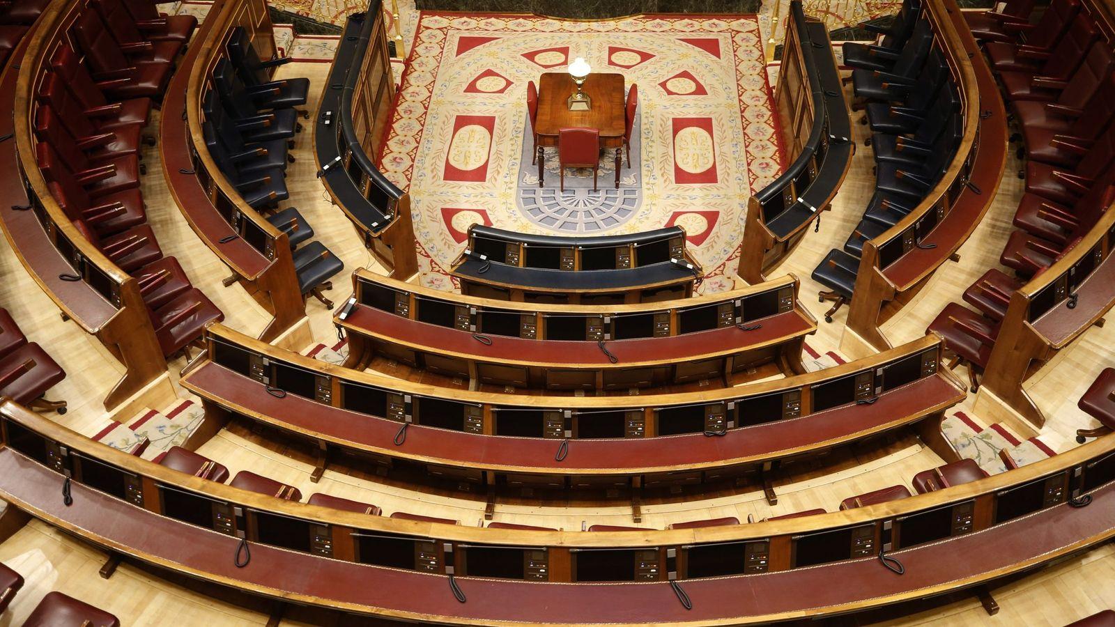 Foto: Bancada del hemiciclo del Congreso. (EFE)