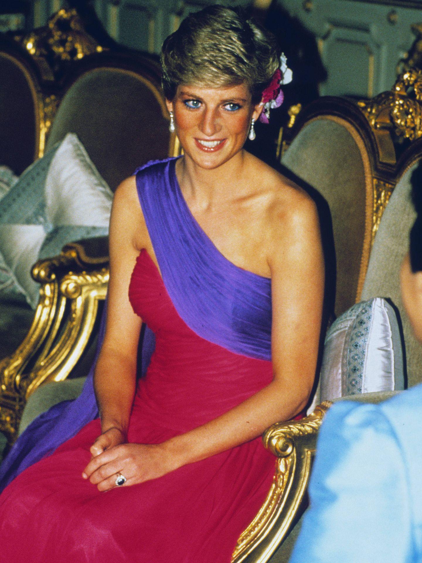 Diana en Tailandia en febrero de 1988. (Getty)