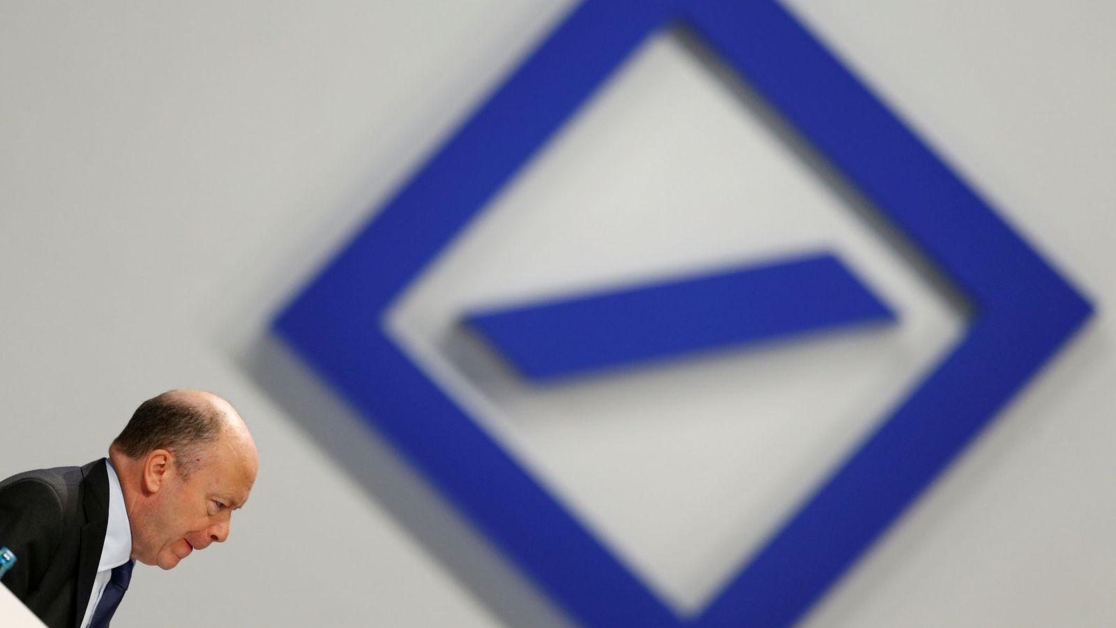 Foto:  Deutsche Bank, Cryan Speaks. (Reuters)
