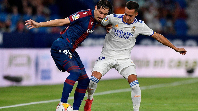 Campaña y Lucas Vázquez en acción. (Reuters)