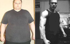 Cómo pasar de obeso a supercachas, explicado por el hombre de la foto