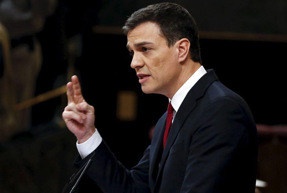 Foto: El secretario general del PSOE, Pedro Sánchez, durante la primera jornada de su debate de investidura, el pasado 1 de marzo en el Congreso. (Reuters)