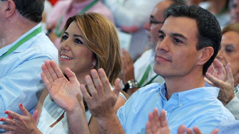 Susana Díaz y Pedro Sánchez en un acto del PSOE en Andalucía. (EFE)