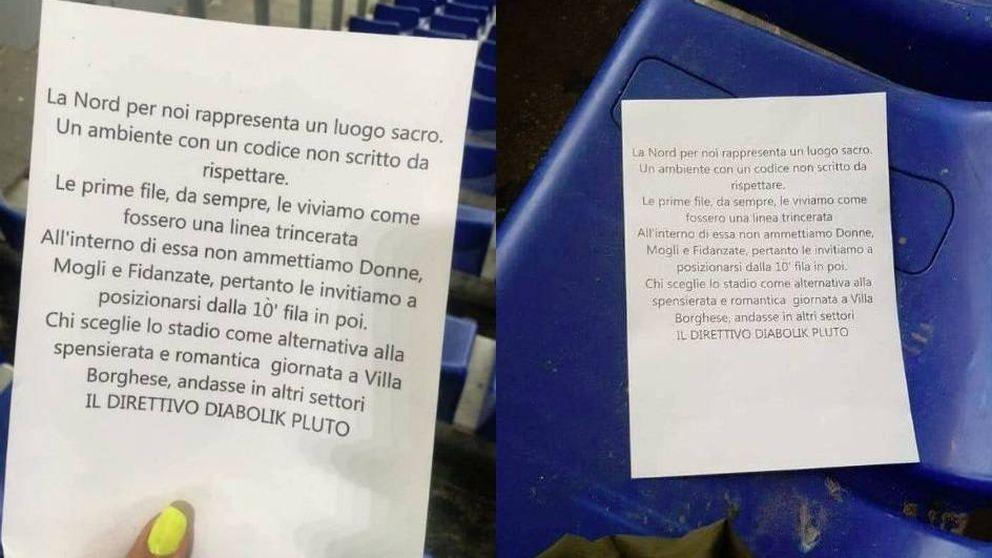 Los ultras de la Lazio, de antisemitas a machistas: Sin mujeres hasta la fila 10