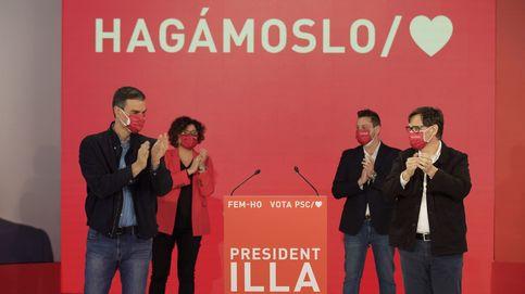 Sánchez calienta el voto por Illa apelando a la estabilidad tras años de trincheras y decadencia