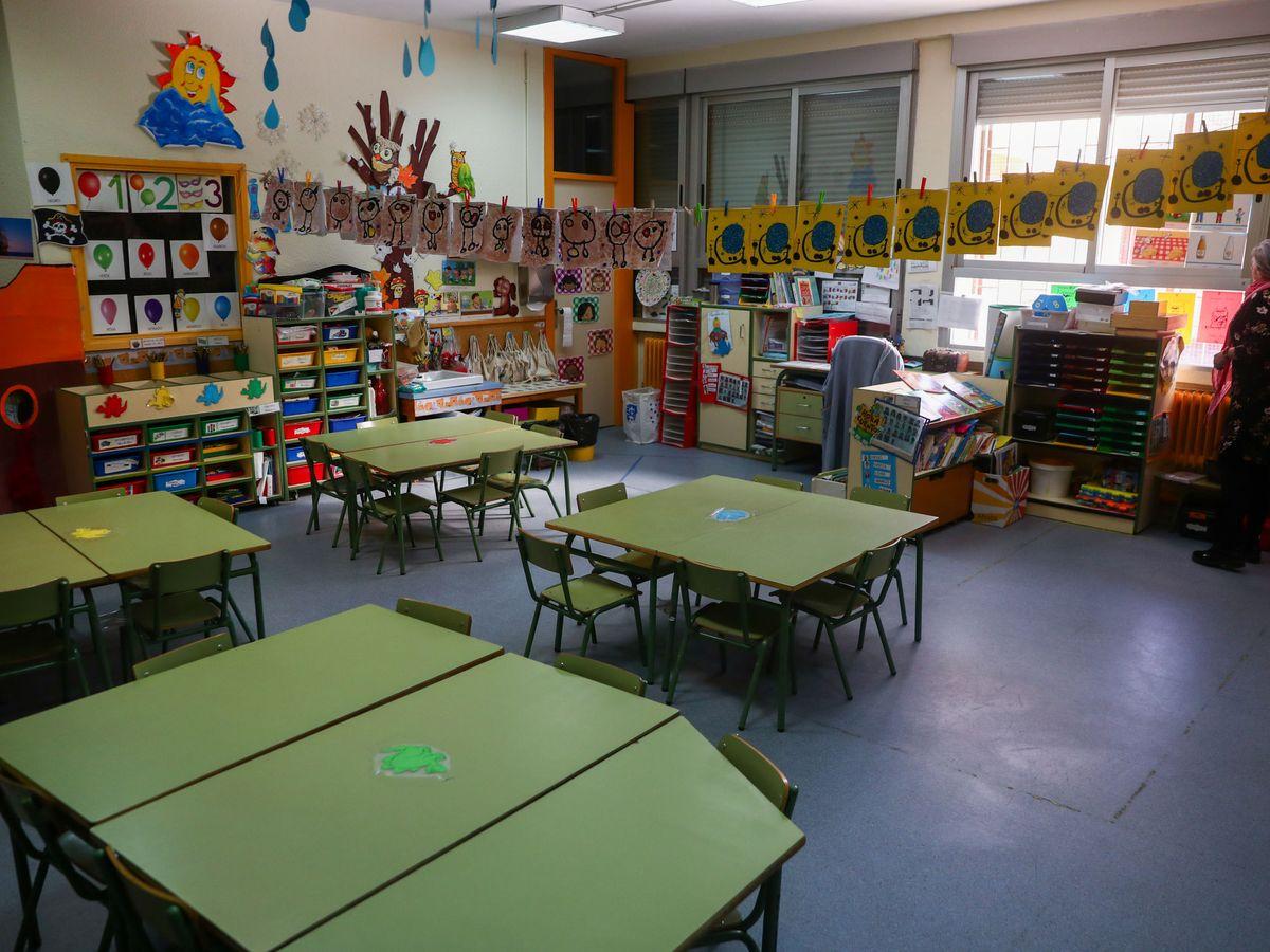Foto: Una escuela de Madrid, vacía por el coronavirus. (EFE)
