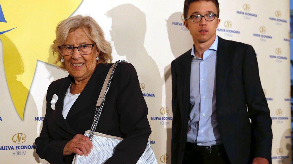 Foto: La alcaldesa de Madrid, Manuela Carmena, junto al candidato de Más Madrid a la Comunidad, Íñigo Errejón (Efe)