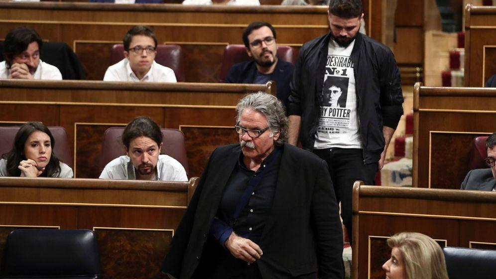 Foto: Joan Tardá y Gabriel Rufián de ERC, en el Congreso. EFE Mariscal