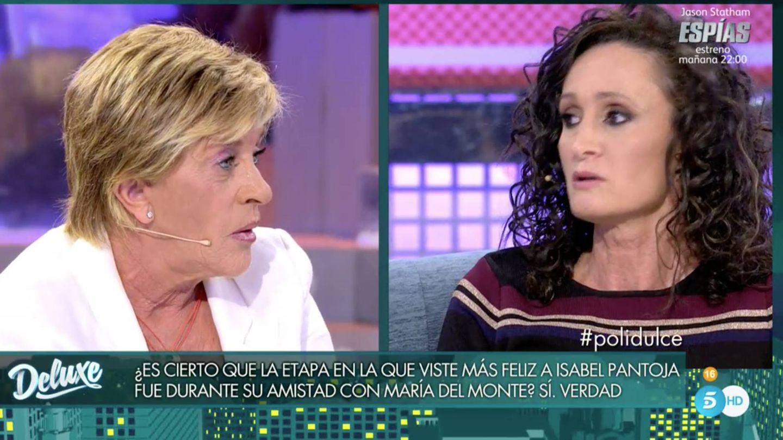 Dulce y Chelo García Cortés en un momento de 'Sábado Deluxe'.