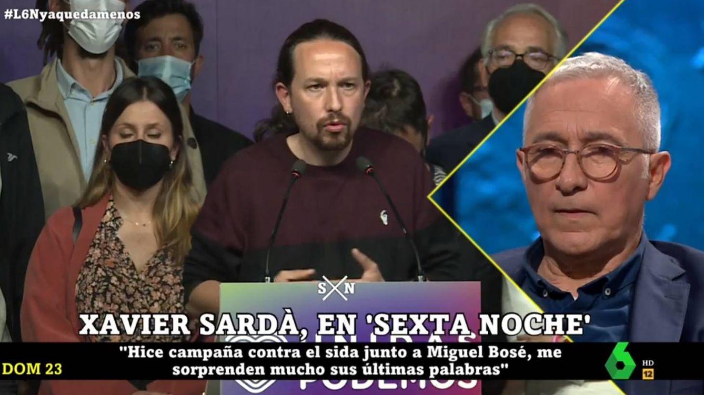 Xavier Sardà solo necesita una frase para fulminar a Pablo Iglesias en 'La Sexta noche'