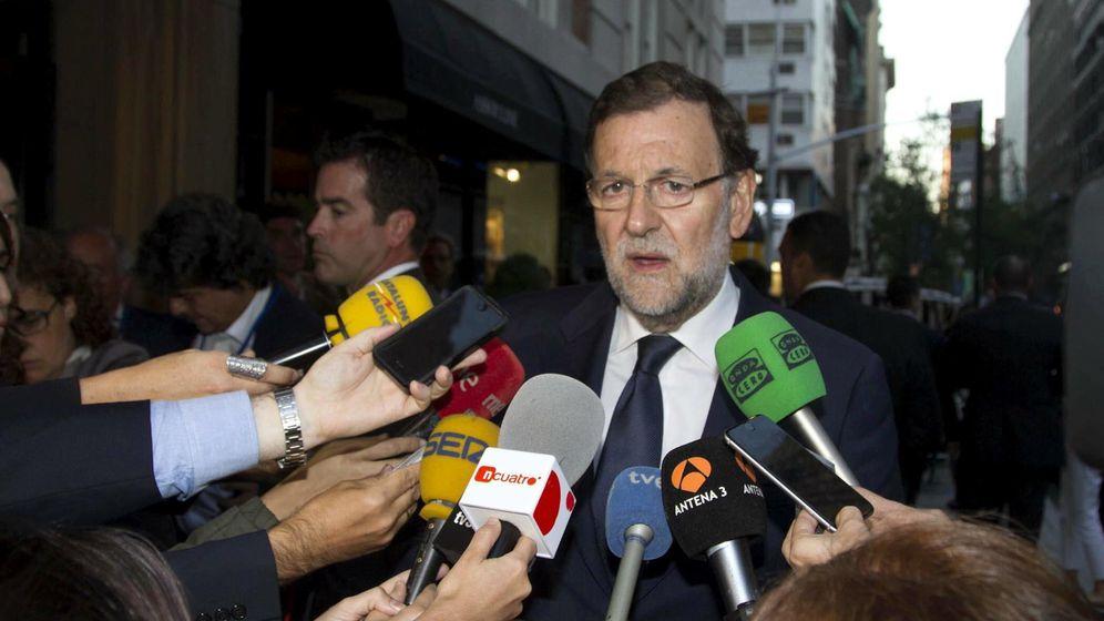 Foto: El presidente del Gobierno, Mariano Rajoy, a su llegada a Nueva York (EFE)