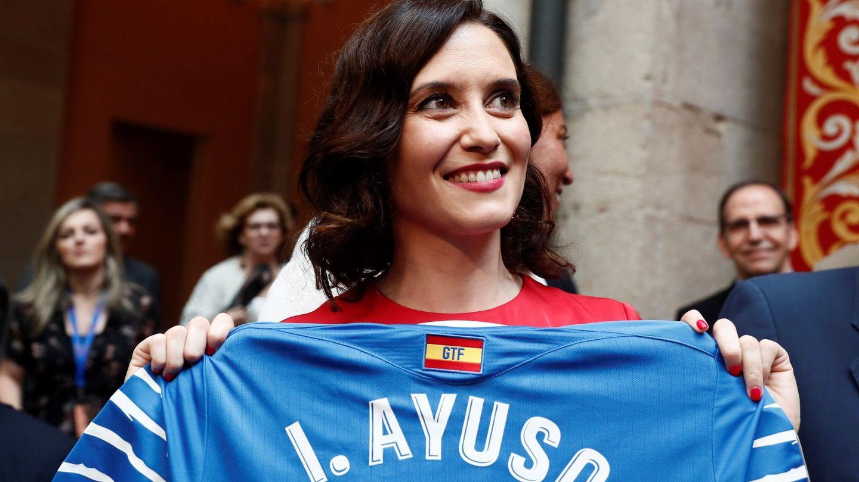 Isabel, hace unos días en la Asamblea de Madrid. (EFE)