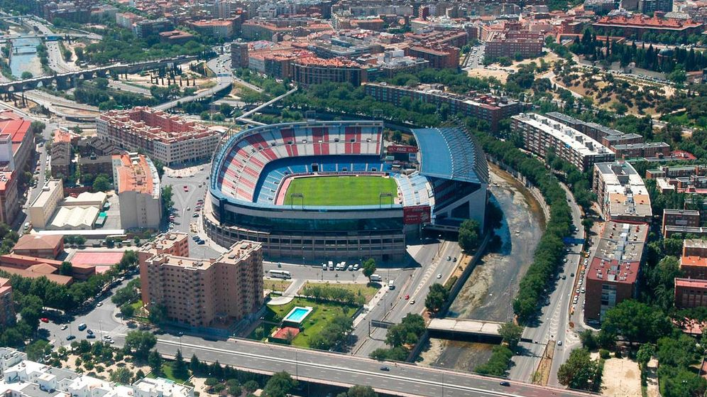 Foto: Vista aérea del estadio Vicente Calderón. (Ayuntamiento de Madrid)